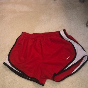 Women's Red and black nike shorts